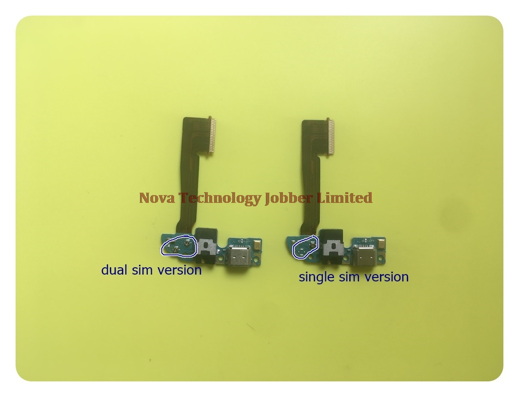 Wyieno M8 Dual Charging Port  For HTC One M8 Dual Sim USB Charger Connector Flex Cable Replacement Parts Microphone Tracking