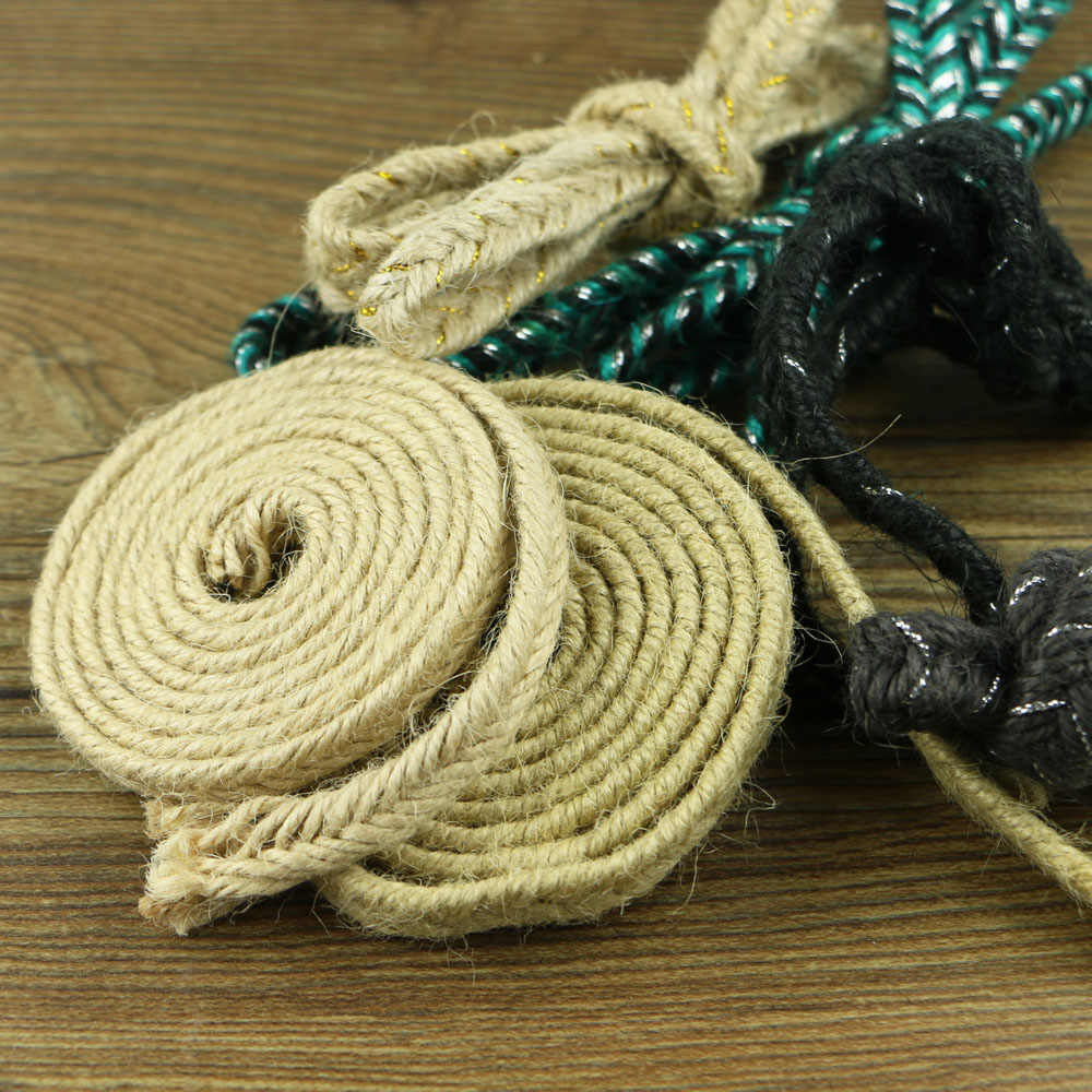 Natural Hessian big size thick Jute Twine Rope Burlap Ribbon DIY Craft Vintage Wedding Christmas Party Decor hemp rope