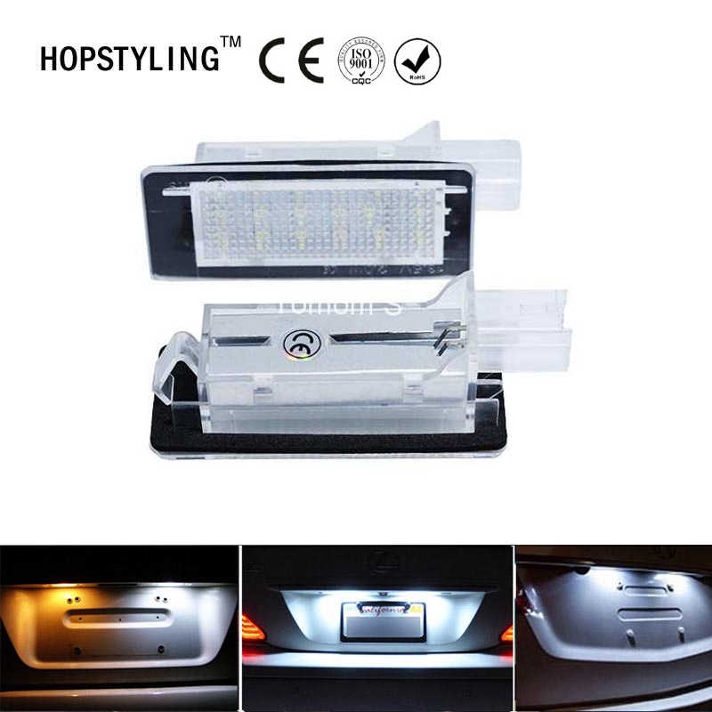2Pcs Error Free For RENAULT Modus Grand Modus Scenic II 5D Scenic III 5D ZOE Car LED Number License Plate Light Kit Car-Styling