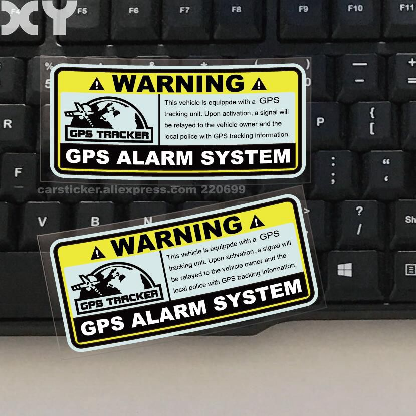Decals Alarm-System Car-Stickers Tracking Reflective-Type Warning Gps Anti-Theft Motorcylcle
