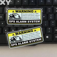 2PCS Warning GPS ALARM SYSTEM Tracking Anti Theft Decals Reflective Type Car Stickers for Motorcylcle Automobile Drop Shipping