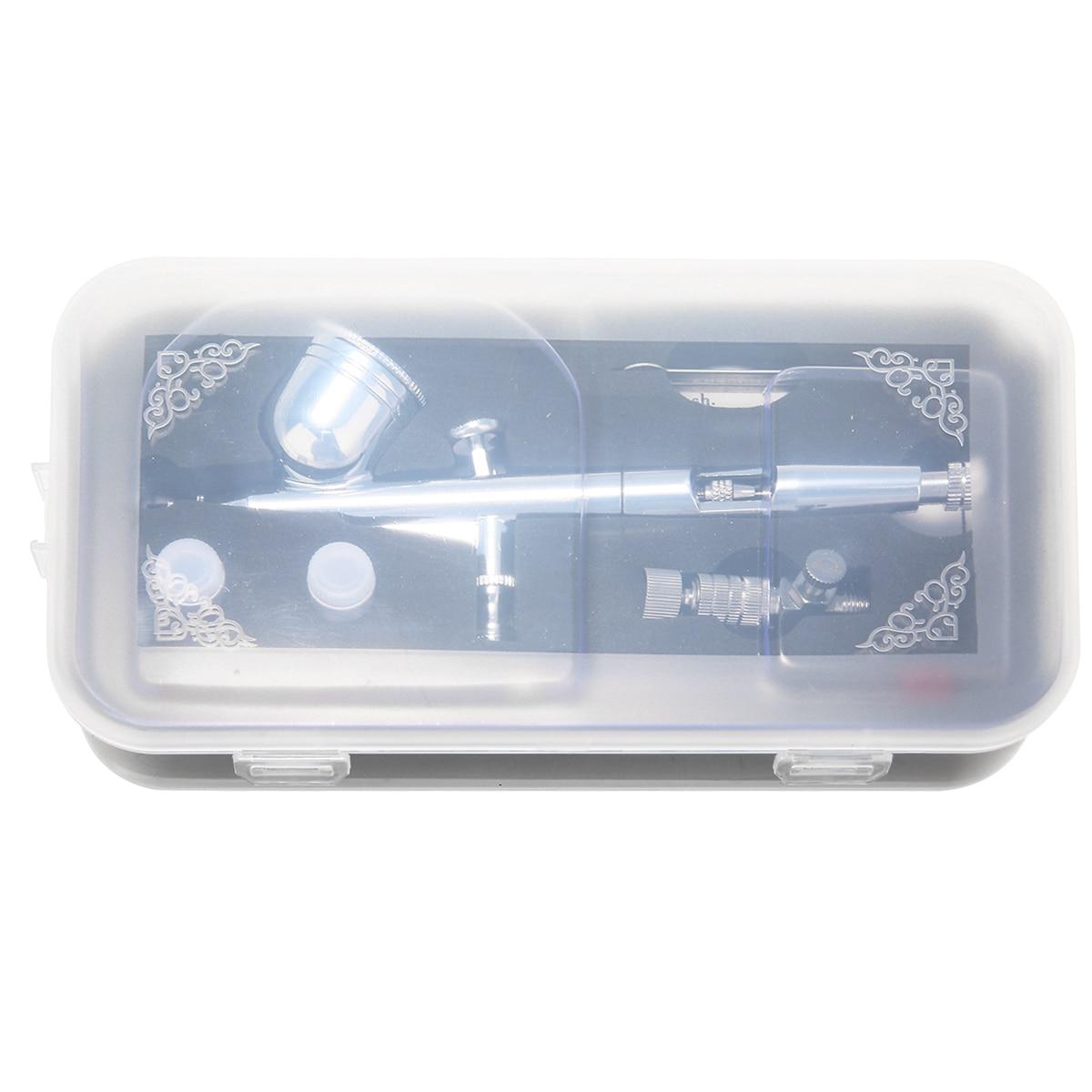 New 130T Dual Action Airbrush 0.2/0.5mm Gravity Feed Airbrush Spray Tool Paint Art Spray Gun DIY Power Tools