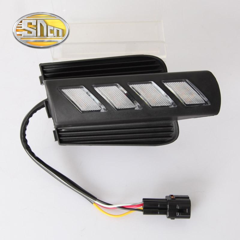 SNCN LED Daytime Running Light For Toyota Prado 120 FJ120 2003 2009 Car Accessories Waterproof ABS