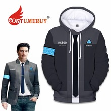 CostumeBuy Game Detroit: Become Human Cosplay RK800 Hoodies Top Coat Adult Connor