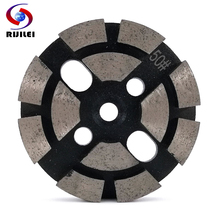 RIJILEI 3PCS/Set 4inch Diamond Grinding disk for Concrete Terrazzo Diamond Grinding Shoes for Stone Diamond grinding plate ZJ01