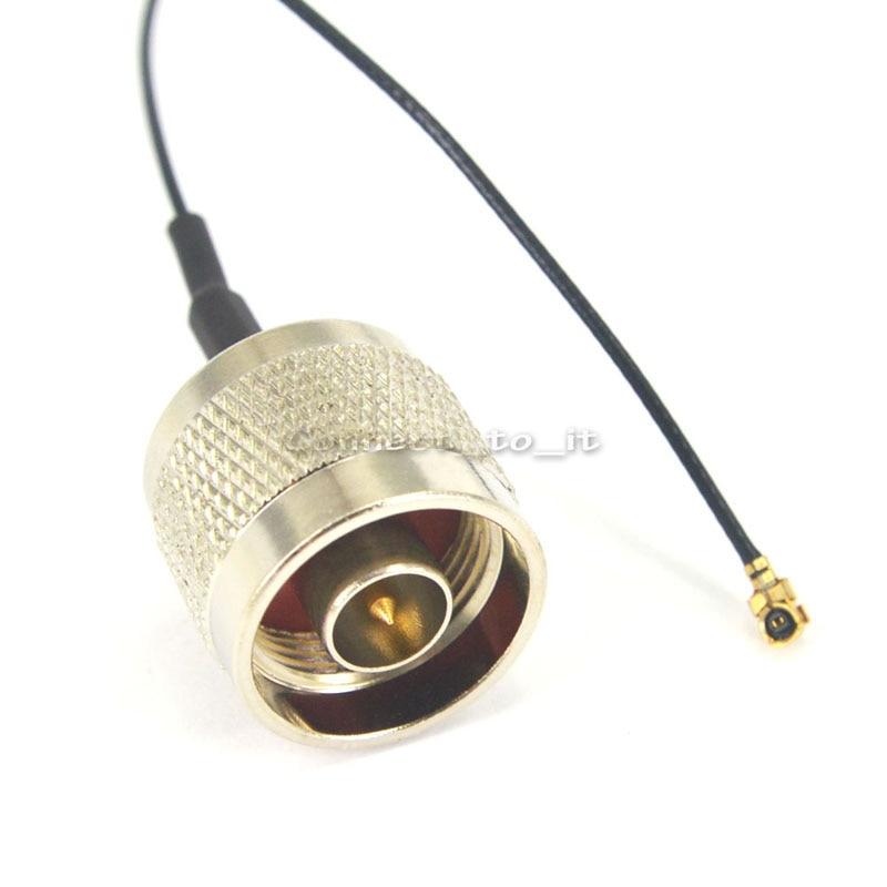 ΞEnvío libre (5 unids/lote) cable de extensión n macho a UFL/IPX ...