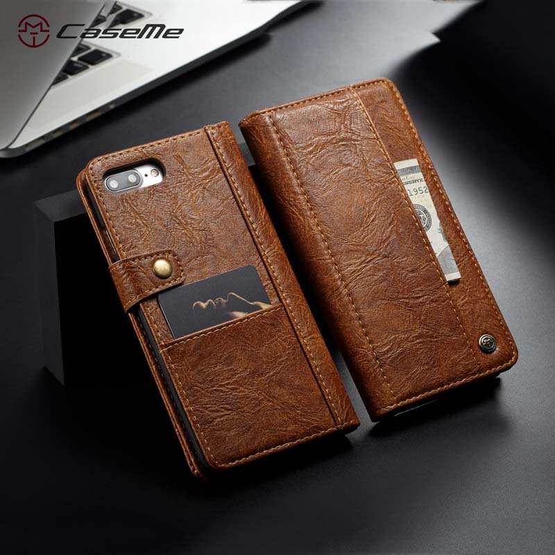 For iphone 8 8 plus case CaseMe luxury Retro PU Leather cover Wallet Case for iphone iphone 7 7 plus coque with card Pockets