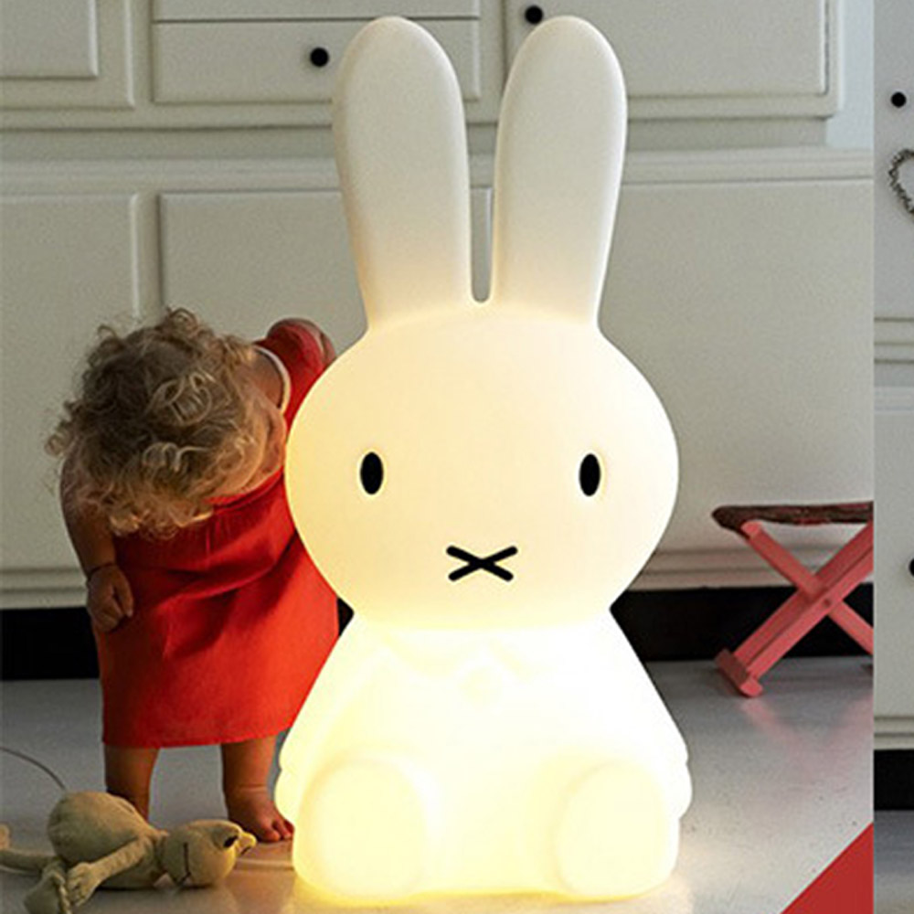 2017 Baby Bed Room Big Rabbit 50cm/80cm Night light Anti-fall Children Lamp Christmas Gift Bedside Decoration Kids Lovely Lights комплект майки 2 штуки для девочки 117bbgu96010208 белый 116 122