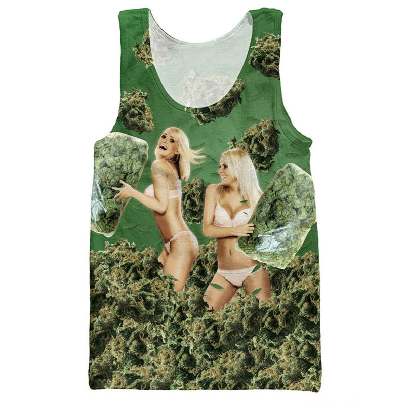 Sexy 3d Printed   Tank     Tops   Men Fashion Clothes Ladies Takes Pillow Fight Weed Graphic Jersey Loose Sleeveless Shirt Male Vest