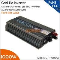 Colorful 1000W Grid Tie Inverter for 18V (36 cells) Solar Panels, 10.8 30V DC to AC 90 140V Wide Input Voltage On Grid Inverter