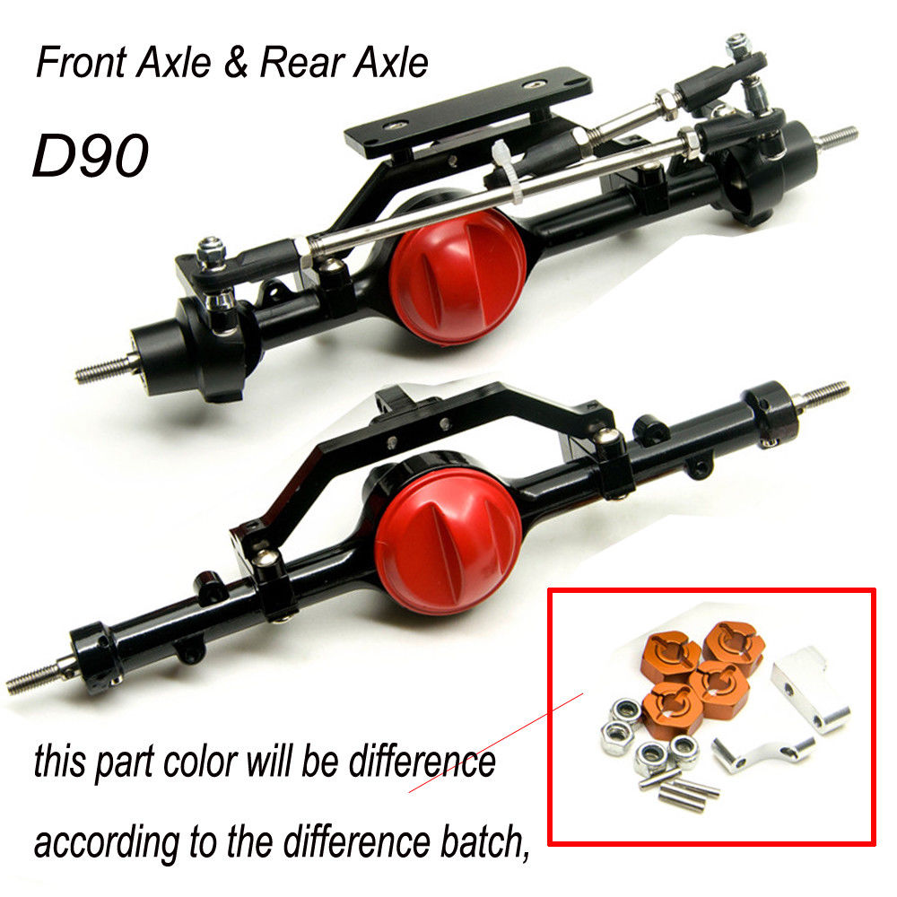 AXSPEED ARB Edition Complete Aluminum Front & Rear Axles For D90 1/10 RC Crawler