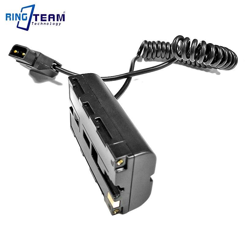 Image 2 - Спиральный кабель питания P Tap D Tap для NP F550 F570 пустышка Аккумуляторный соединитель для мониторов/лампАдаптеры AC/DC   -