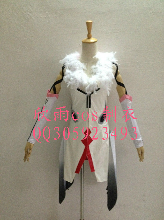 2016 Guilty Crown Inori Yuzuriha Cosplay Costume white dress