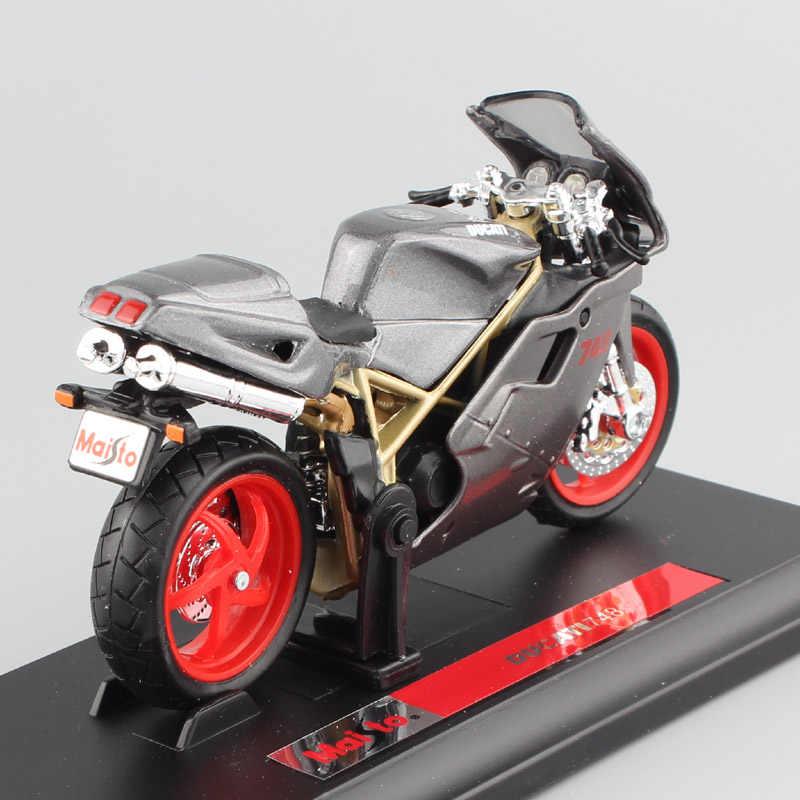 1:18 Skala Merek Ducat 748 Olahraga Sepeda Jalan Sepeda Sepeda Motor Logam Mesin Diecast Olahraga Balap Sepeda Motor Model Mobil Mainan untuk anak Laki-laki