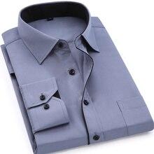 Мягкие удобные мужские модные повседневные футболки с длинными рукавами Slim Fit Дизайн Стиль мужской социальной платье в деловом стиле рубашки 2017