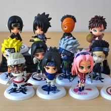 6 шт./лот, 7 см, японские комиксы, фигурки Наруто, Kakashi Sakura Sasuke Itachi Obito Gaara, ПВХ игрушки, модель фигурки