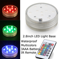 "20pcs/Lot SUPER Bright 3AAA Battery Multicolors RGB LED 2.8"" Submersible Floralyte LED Light,Waterproof LED Vase Light For Decor"