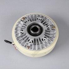 200нм 20 кг DC 24 В полый вал 1000 об/мин Магнитный порошковый тормоз разматывание для контроля натяжения непрерывное скольжение имитация нагрузки