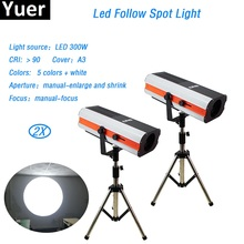 300w LED follow Spot Light super bright Follow Tracker Manual-Focus For Wedding Theater Performance party stage lighting