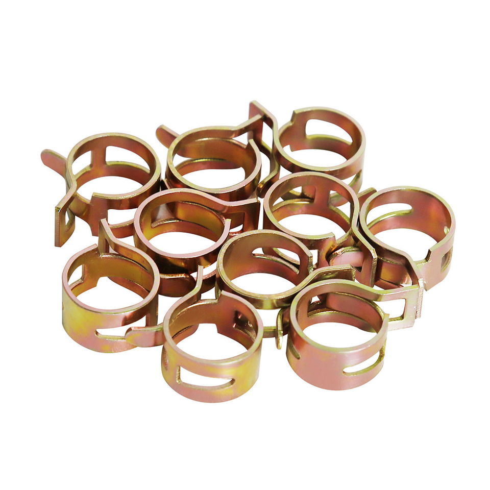 60 Pcs Stainless Steel Assortment Set Hose Clamps Fuel Hose Line Water Pipe I8A5