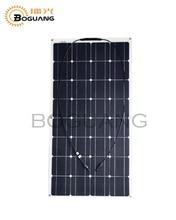 100 W Panel Solar flexible para el coche solar powered barco de pesca RV 12 V sistema de kits de batería celular módulo solar panel solar cargador