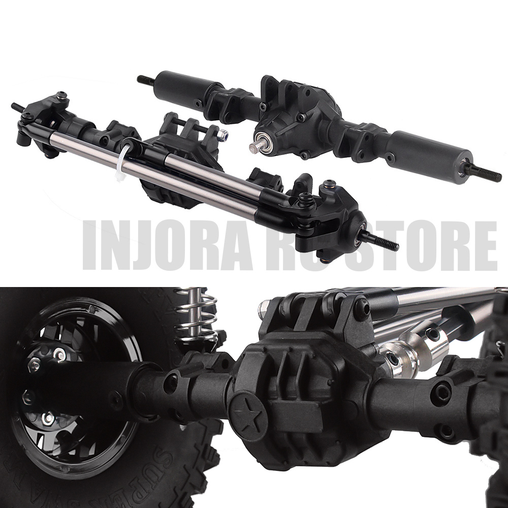 RC Car Front/Rear Straight Axle For 1/10 RC Rock Crawler Axial SCX10 II 90046 90047 RC Parts