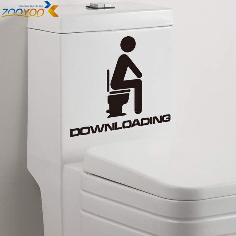 vendita calda diy etichetta impermeabile bagno wc adesivi per porte adesivi murali decorazione domestica smontabile del