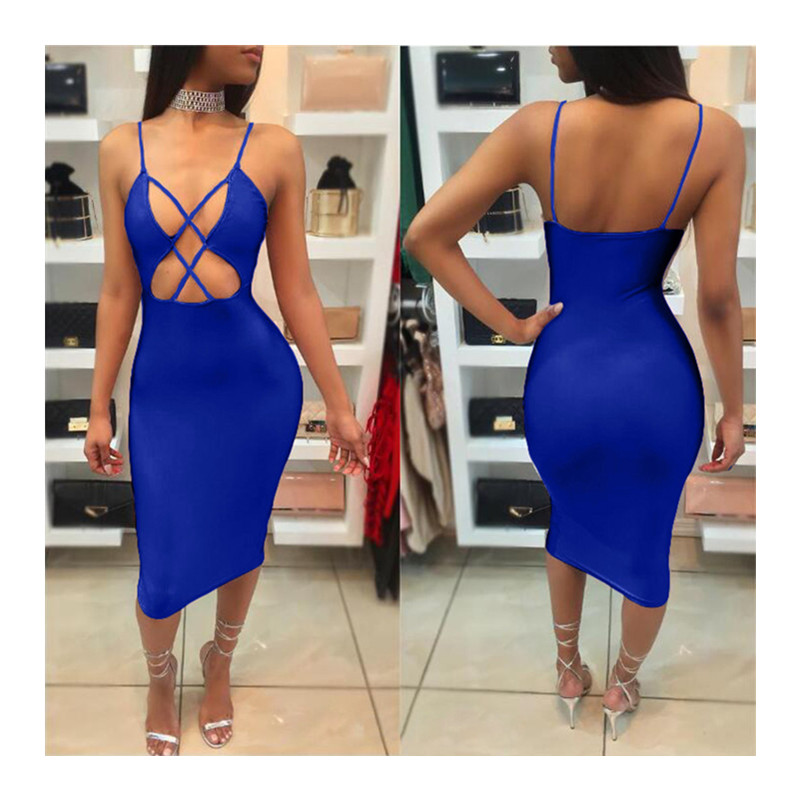 Womens Elegant Sexy Plus Size Cutout Dress Casual Party Halter Halter Sexy  Women Step  Dresses