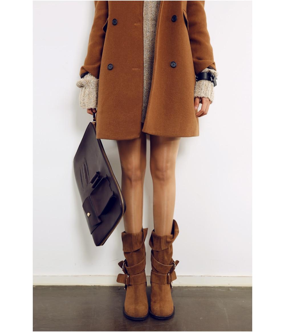 2014 Design New Spring/Winter Trench Coat Women Brown Long ...