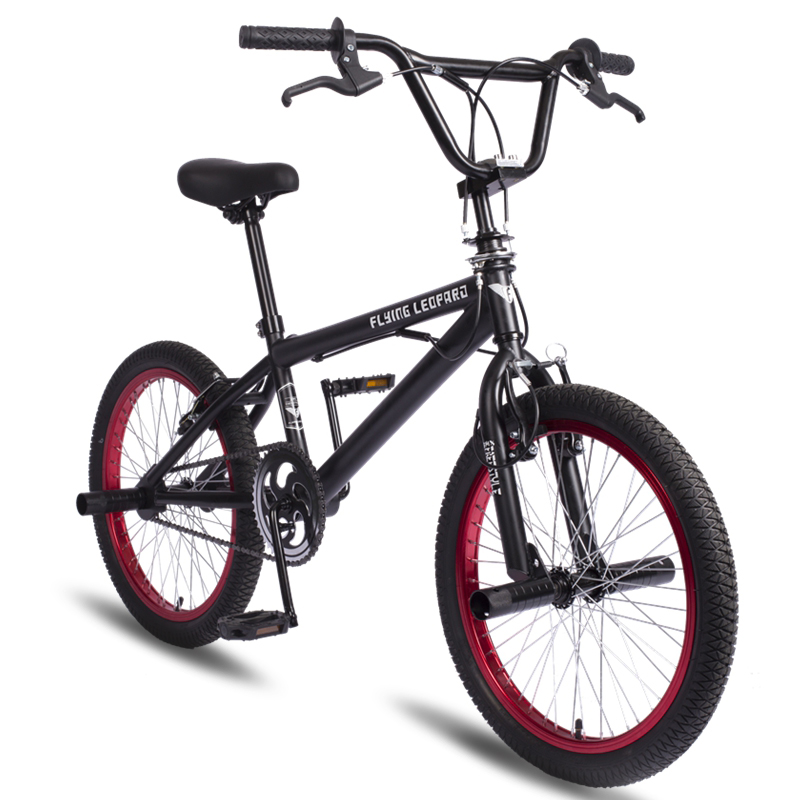 BMX 20 Inch BMX bike steel frame Performance Bike purple red tire bike for show Stunt