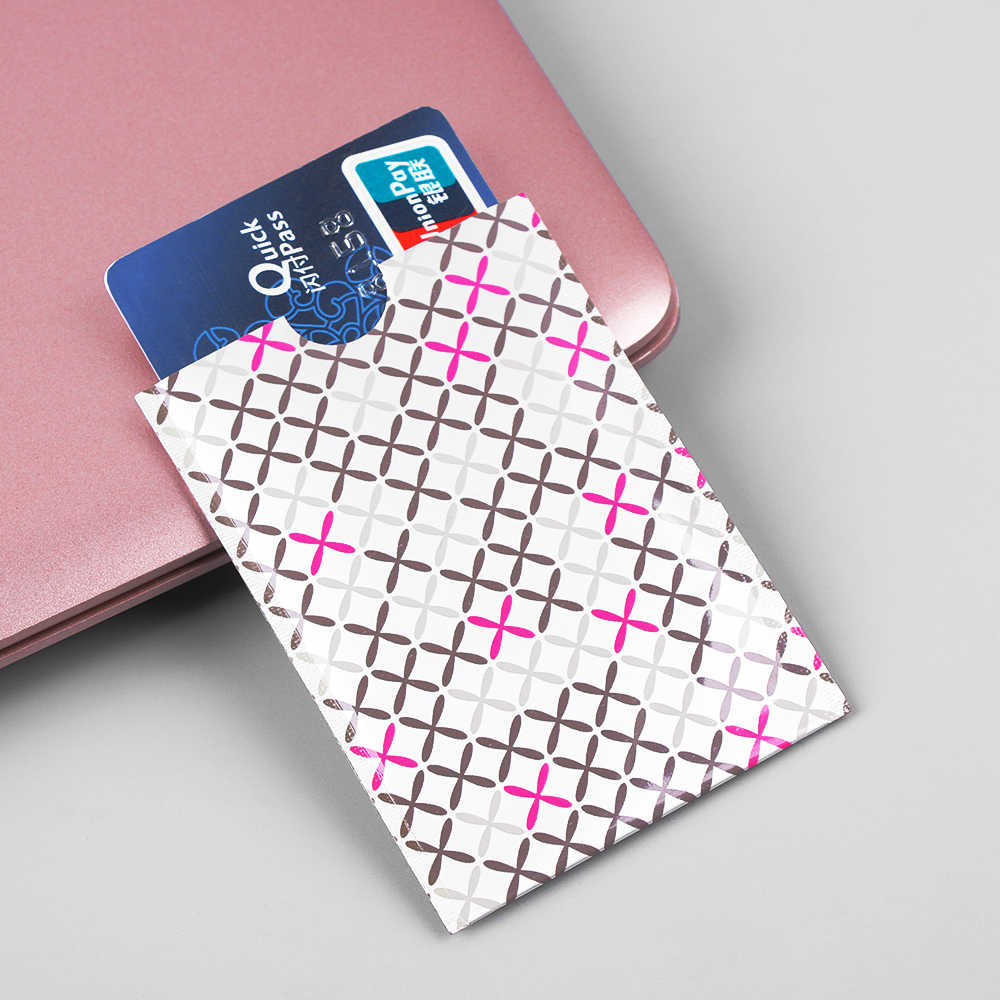10 Pcs/Pack New Anti-theft Rfid Blocking Cardholder Carte Rfid Card Protection Bank Card Case Metal Rfid Covers For Credit Cards