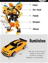 2017 Anak Transformasi Klasik Aksi gambar Mainan Robot Mobil Untuk Anak-anak Harga untuk 1 pcs
