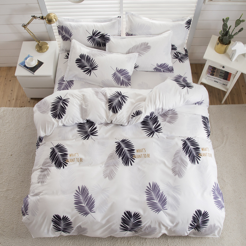 Valanorean Rumah Set Tempat Tidur Cahaya bulu Lembut selimut Bed Cover Set sarung bantal King size Queen ganda Penuh 4 pcs Twin 3 pcs