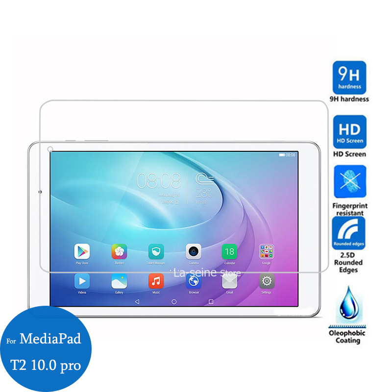 For Huawei MediaPad T2 10.0 Pro Tempered Glass Screen Protector 9H Protective Film On Pad T 2 10.0-inch Pro Anti-explosion image