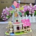 3d puzzle diy modelo de madeira crianças brinquedo moinho de vento holandês enigma, enigma 3d edifício presente para as meninas