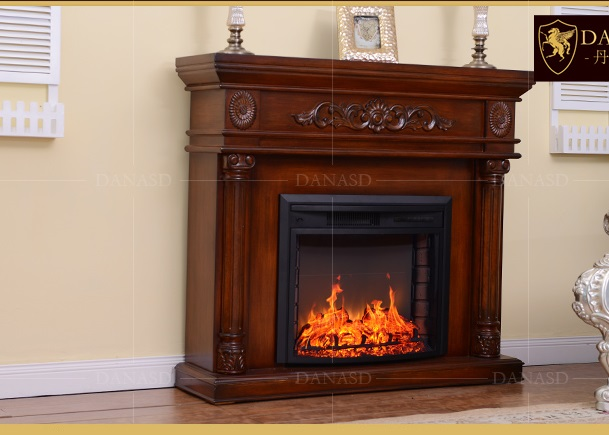 2018 New Arrived Safer European Wal-Mart  Style Fireplace American Wood Fireplace Simulation Of Fire Heating Electric Fireplace