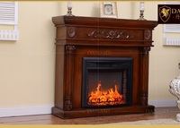 2018 new arrived safer European Wal Mart Style Fireplace American wood fireplace simulation of fire heating electric fireplace
