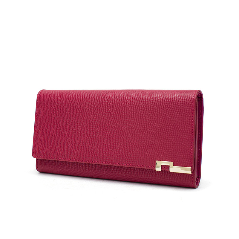 High Quality Genuine Leather Women Wallets 2018 Luxury Brand Fashion Ladies Wallet Leather Long Purse Card Holder Women 39 s Clutch in Wallets from Luggage amp Bags