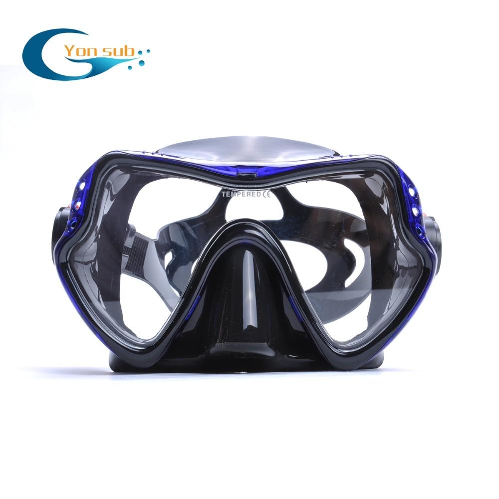 Profesjonalna silikonowa maska nurkowa Podwodne łowiectwo - Sporty wodne - Zdjęcie 2