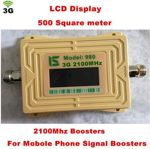 Nouveau 2018 3G 980 20dbm gain 62dbi répéteur de signal de téléphone répéteur 3G répéteur, booster de signal 3G wcdma 2100 mhz booster