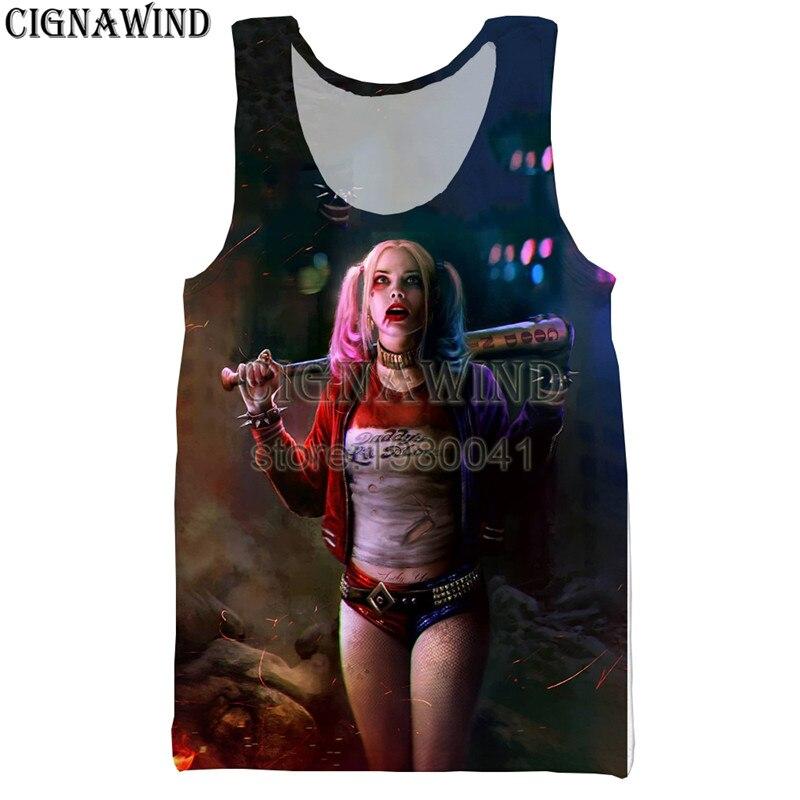 Harley Quinn and Dark Knight Mens Round Neck Sleeveless Premium Tank Top Tank Vest Shirts