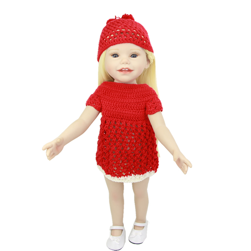 With Hat 18 Inch Full Vinyl American Girls 45 CM Lifelike Newborn Princess Babies Toy With Blue Eyes Kids Birthday Xmas Gift direct heating 216 0707005 216 0707009 216 0683008 216 0683013 216 0683010 216 0683001 216pvava12fg 216qmaka14fg stencil page 2