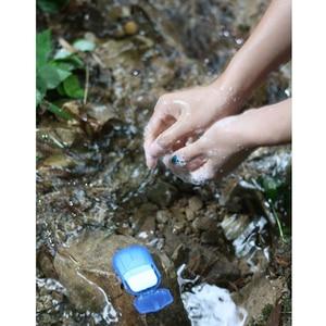 Image 5 - Nova 20pcs Descartável Portátil Mini Folhas De Papel do Sabão Perfumado Fatia Viagem Acampamento Ao Ar Livre Ferramentas de Banho Lavar As Mãos Limpas Heath cuidados