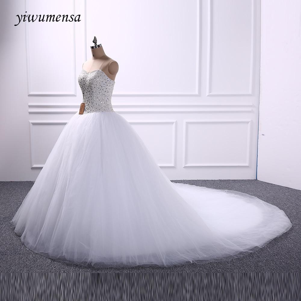 yiwumensa Romantic Beading font b wedding b font dresses 2017 font b Bridal b font dress