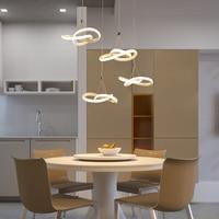 Нве современная люстра светодио дный светодиодный круглый гостиная лампа ресторан алюминий освещение белый AC85 265V