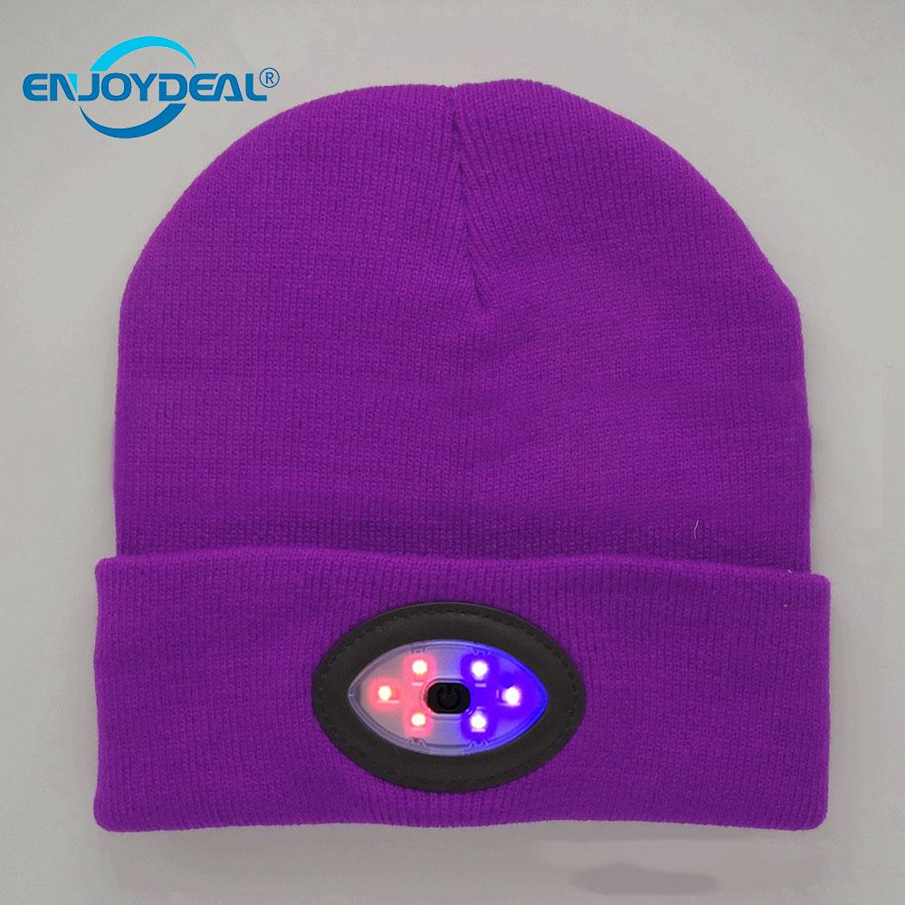 2d8453051af Detail Feedback Questions about 6LED Knit Hat USB Rechargeable Hands Free  Flashlight Cap Keep warm in winter for Climbing Fishing outdoor on  Aliexpress.com ...