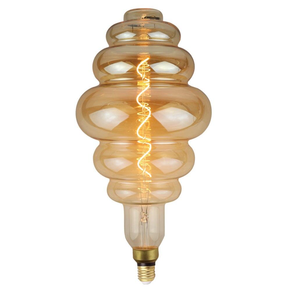 Grande taille ampoule dimmable Edison ampoule E27 doux LED Filament Vintage lampe à LED grand hamburger décor ampoule 6 W 220 V lumière blanc chaud - 6