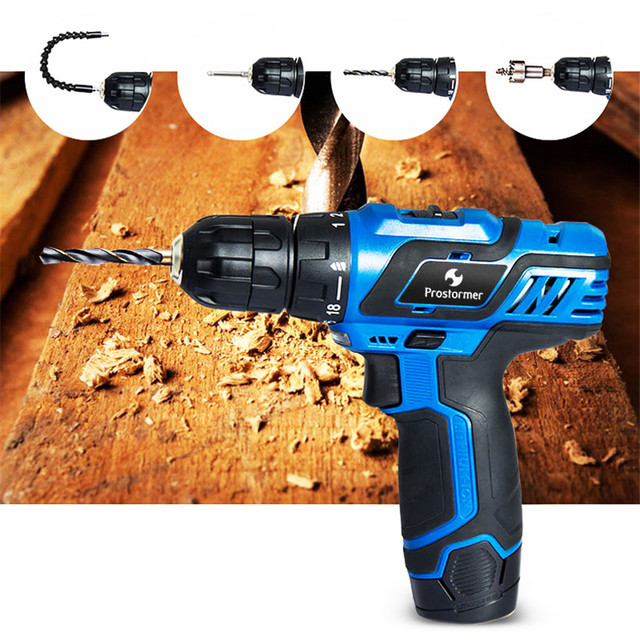 Prostormer 12V Series Electric Drill/Electric Screwdriver/Electric wrench/Ratchet wrench Cordless Drill Household Power Tools 1