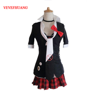 VEVEFHUANG Danganronpa Cosplay Junko Enoshima Cosplay Japanese Anime Costume by Custom made full set school uniform for party