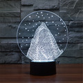New Colorful USB-3D Snow Mountain Decoration Office Table Lamp Child Christmas Bedroom LED Star Night Lights 3D-TD51